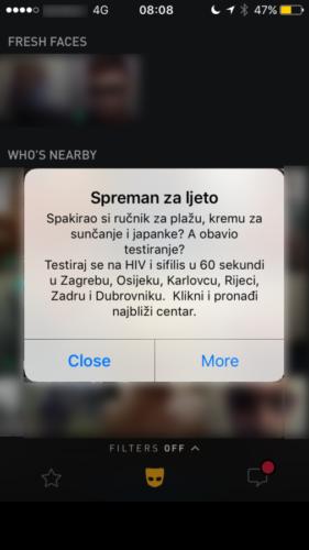 Oglas u mobilnohj aplikaciji-Ljetna kampanja